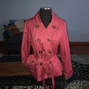 NWOT Merona Trench Coat, Water Resistant
